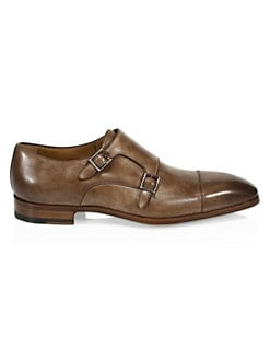 9b0254c7f273 Saks Fifth Avenue. COLLECTION Burnished Leather Double Monk Strap Dress  Shoes