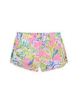 6ef6ddcd0ec30d QUICK VIEW. Lilly Pulitzer Kids. Little Girl's & Girl's Cecile Floral Print  Shorts