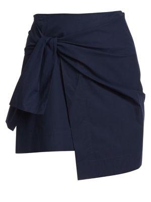 Derek Lam 10 Crosby Skirts Tie Mini Wrap Skirt