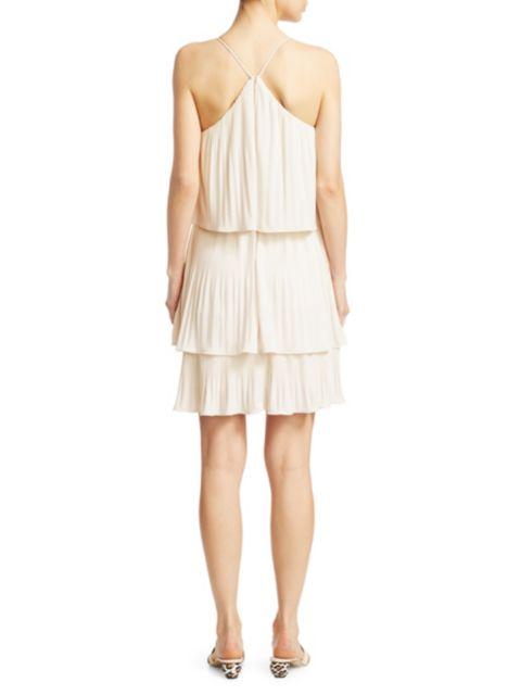 Halston Pleated Tiered Jersey Dress | SaksFifthAvenue