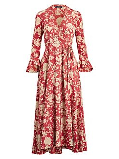 e0e94e61617ef Product image. QUICK VIEW. Polo Ralph Lauren. Harlow Long-Sleeve Floral Maxi  Wrap Dress