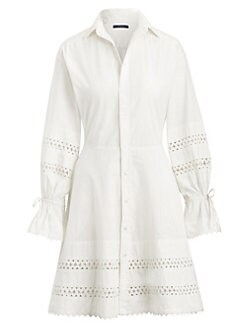 d489c0189bb QUICK VIEW. Polo Ralph Lauren. Jasper Long-Sleeve Lace Eyelet Shirtdress