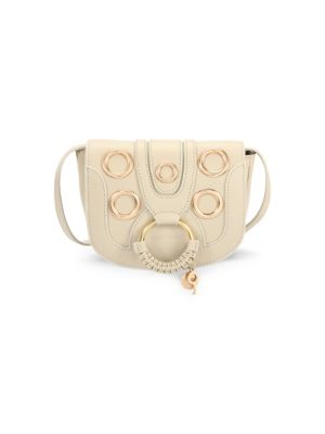 See By Chlo Hana Leather Eyelet Saddle Bag