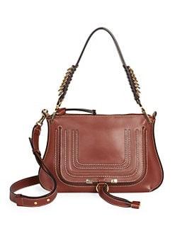 4f36efb6e88f Product image. QUICK VIEW. Chloé. Medium Marcie Leather Saddle Bag