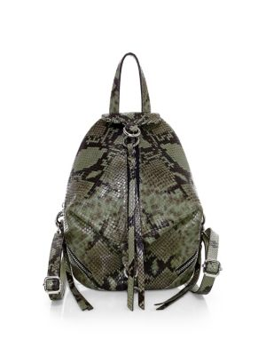 fd0631bc8 Rebecca Minkoff - Julian Snakeskin-Embossed Leather Backpack - saks.com