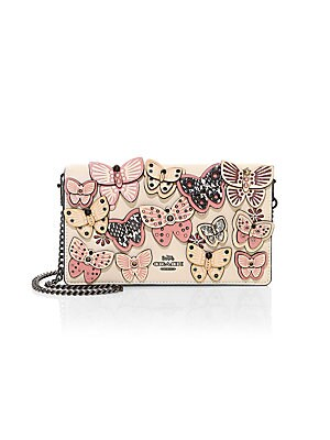 505b16ea8f COACH - Callie Foldover Chain Butterfly Leather Clutch