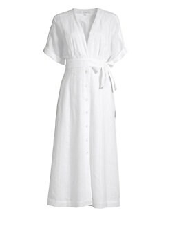 8cac3973999 Equipment - Nauman Linen Wrap Shirtdress