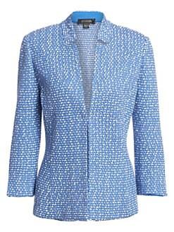 aea83c7534c St. John - Notched Collar Tweed Jacket