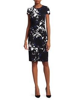 f8bbd3527f99 St. John. Graphic Floral Jacquard Knit Sheath Dress