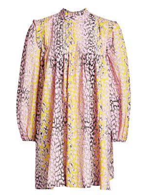 Ganni Cotton Poplin Trapeze Dress