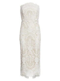 a4af73cf1bad4 Product image. QUICK VIEW. Badgley Mischka. Strapless Lace Cocktail Dress