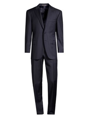 Canali Classic Fit Micro Box Check Wool Suit