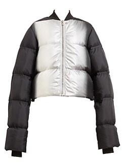 d7a03ad10ad Cropped Duvet Down Puffer Jacket SILVER DEGRADE. QUICK VIEW. Product image.  QUICK VIEW. Rick Owens