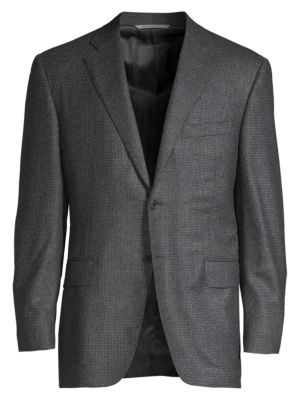 Canali Classic Fit Textured Wool Jacket