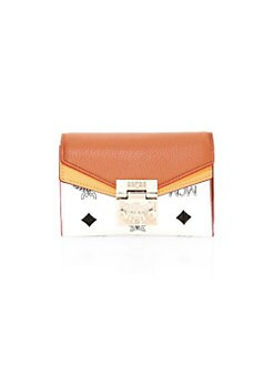 92dd738c2683 QUICK VIEW. MCM. Small Patricia Visetos Leather Logo Flap Wallet