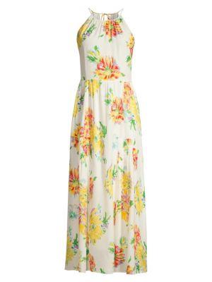 Kobi Halperin Lana Floral Silk Blend Hatler Maxi Dress