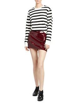 0368ff69934 Saint Laurent. Striped Crewneck Sweatshirt. $550.00. Sequined Mini Skirt
