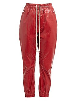 6871a7c6ef13 QUICK VIEW. Rick Owens. Coated Cropped Track Pants