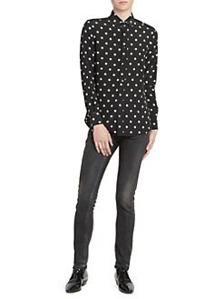 893eec5cb62101 Silk Polka Dot Shirt BLACK MULTI · Product image · Saint Laurent