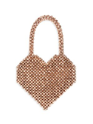 Loeffler Randall Beaded Heart Top Handle Bag