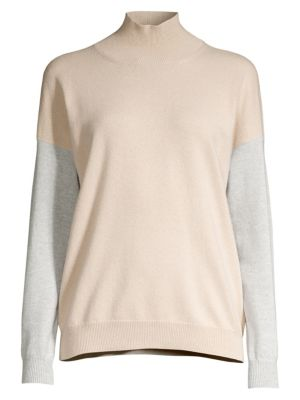 Peserico Colorblock Turtleneck Sweater