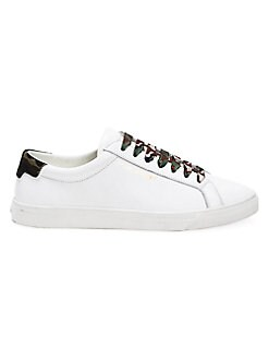 adb47f9da4087 Saint Laurent. Andy Leather Sneakers