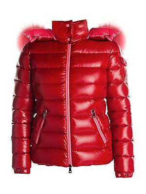 Bady Fox Fur Trim Puffer Jacket by Moncler