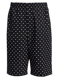 14c78d08e1 Balenciaga. Logo Print Boxer Shorts