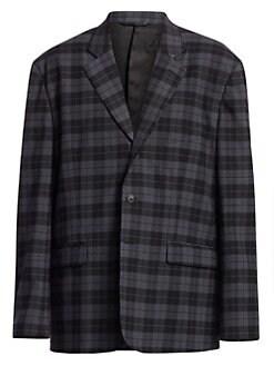 e6f4d368 QUICK VIEW. Balenciaga. Plaid Single-Breasted Jacket