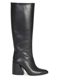 8107d569de9 QUICK VIEW. Chloé. Wave Leather Block Heel Tall Boots
