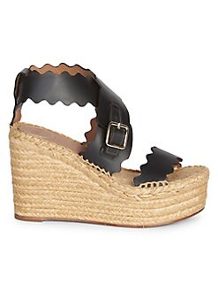 bfbeb051f90 Wedges. Chloé - Lauren Wrapped Espadrille Wedge Platform Sandals