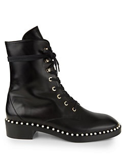 8a2ddc0246c7 Stuart Weitzman. Sondra Embellished Combat Boots