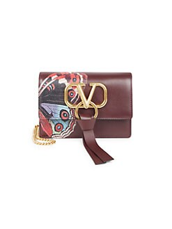 fb5af6ff50db4 QUICK VIEW. Valentino Garavani. Mini Undercover Butterfly Leather Clutch
