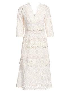 00102675fc5 Sea. Laurel Lace Tiered Midi Dress