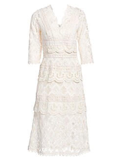 1c1eea235333 QUICK VIEW. Sea. Laurel Lace Tiered Midi Dress