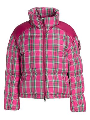 Moncler Chou Tartan Puffer Jacket