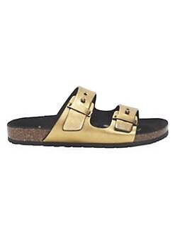 c66b41936d21 QUICK VIEW. Saint Laurent. Jimmy Metallic Leather Sandals