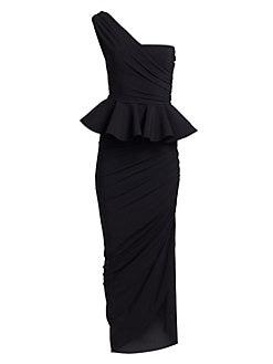 b348a53270526 QUICK VIEW. Chiara Boni La Petite Robe. Okoye One-Shoulder Peplum Gown