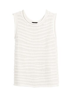 f52747f5130 Theory. Crochet Stripe Sleeveless Shell