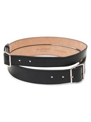 Alexander Mcqueen Double Leather Belt