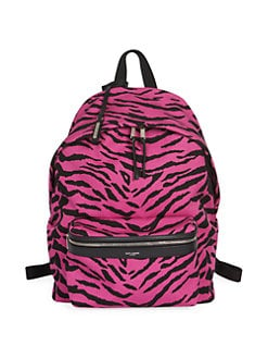 14ffcd3ad3a Saint Laurent. Zebra Print Backpack