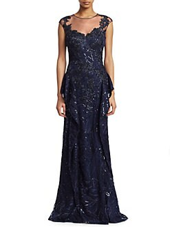 17898a690920 Teri Jon by Rickie Freeman. Lace & Sequin Gown