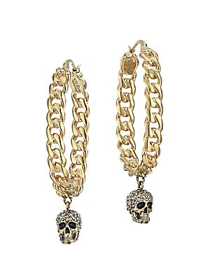 f658453da55e9 Alexander McQueen - Crystal Skull Hoop Earrings