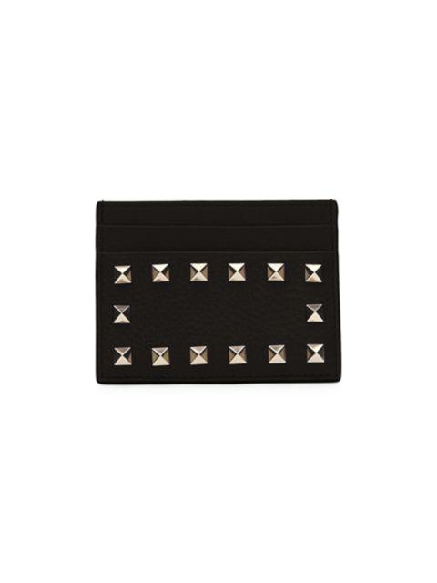 Valentino Valentino Garavani Rockstud Leather Card Holder   SaksFifthAvenue