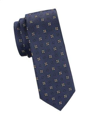 Salvatore Ferragamo Square Print Silk Tie