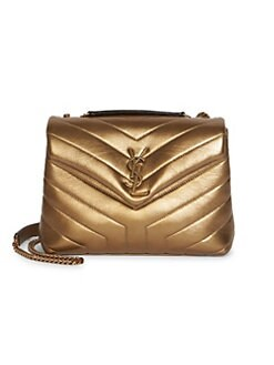 505b99259 Saint Laurent. Small Loulou Metallic Matelassé Leather Shoulder Bag