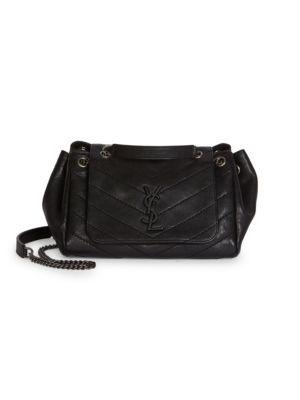 df21bb7af4 Saint Laurent Small Nolita Monogram MatelassÉ Leather Shoulder Bag In Black