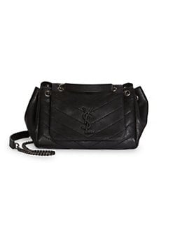 349f3a820 Saint Laurent. Small Nolita Monogram Matelassé Leather Shoulder Bag