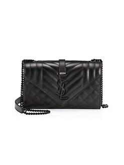 24226580fa8e Saint Laurent. Small Monogram Matelassé Leather Envelope Crossbody Bag
