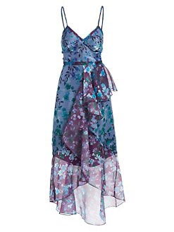 0f6b2f4772 QUICK VIEW. Marchesa Notte. Floral Ruffle Cocktail Dress